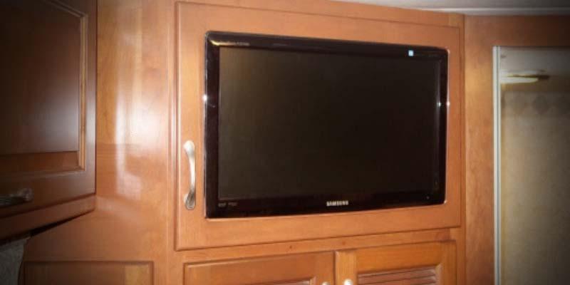 Bedroom Tv Custom Fit For Any Brand Rv Wood Design