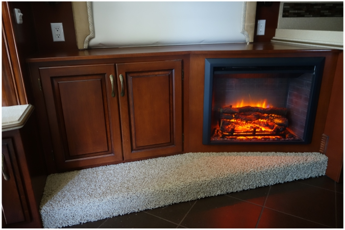 Custom cabinet with fireplace insert