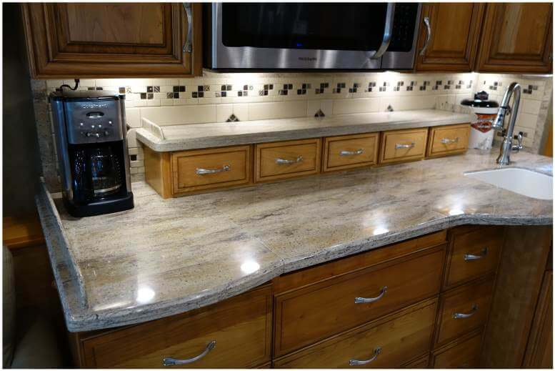 Custom RV countertop cabinets