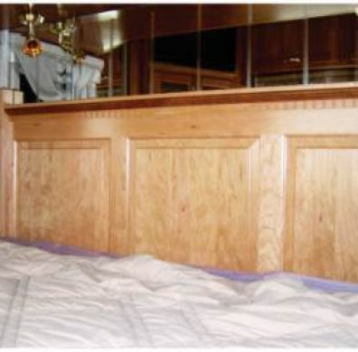Intricate custom RV headboard