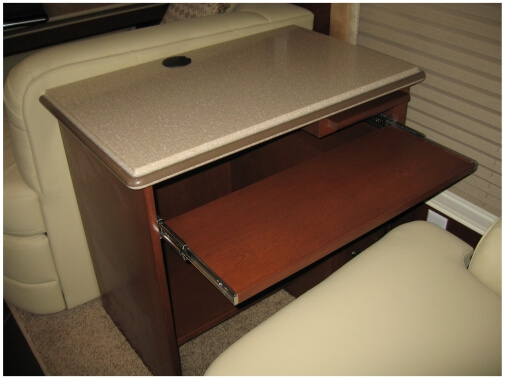 Custom built desk with breadboard pullout