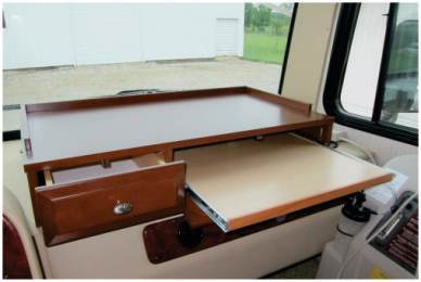 Custom Dashboard RV table with drawer pullout and slider