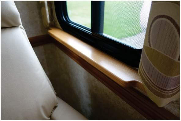 Custom RV window sill