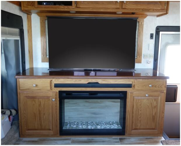 Custom TV Cabinet with motorized lift