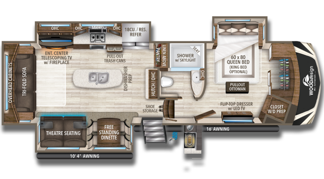 Endless ways to customize your RV - potential floorplan layout