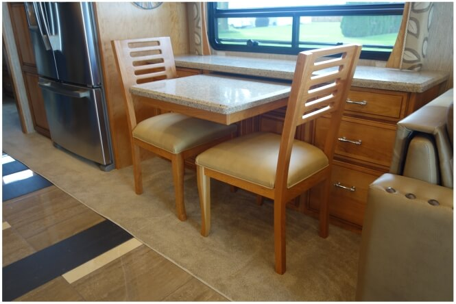 Flat top top executive RV desk
