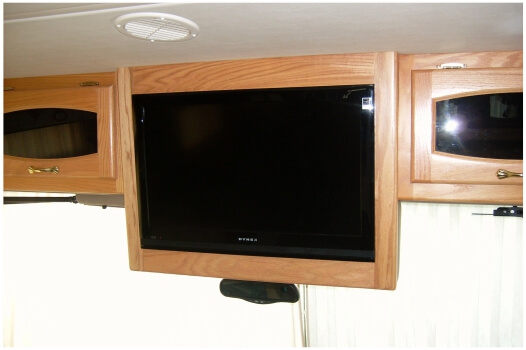 Matching original decor custom TV cabinet