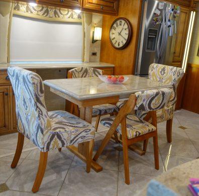 Custom table in kitchen