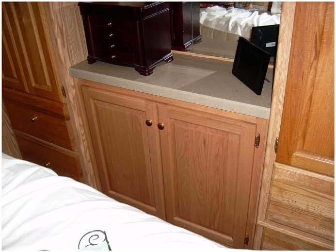 Cabinet storage in bedroom