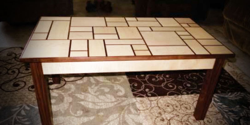 RV coffee table with tile top