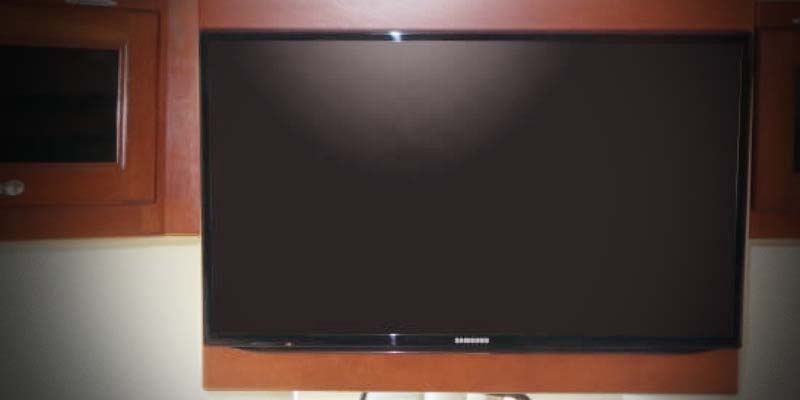 Front overhead TV cabinet