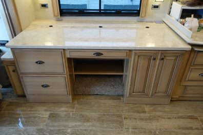 Custom cabinetry with corian top