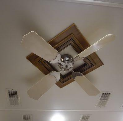 Ceiling fan trim square decorative