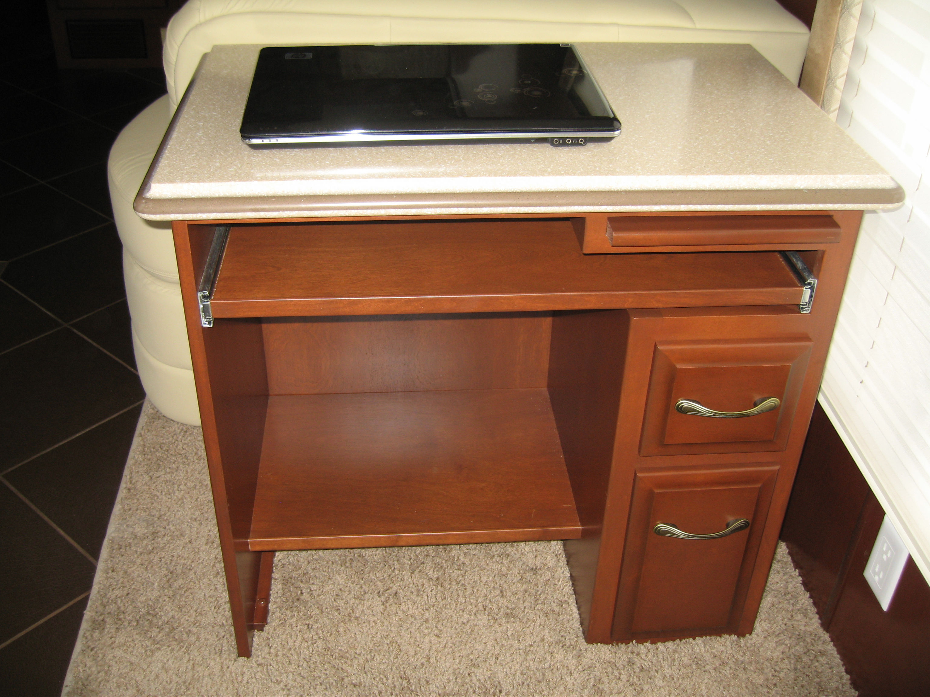 Custom desk with drawers and pullout