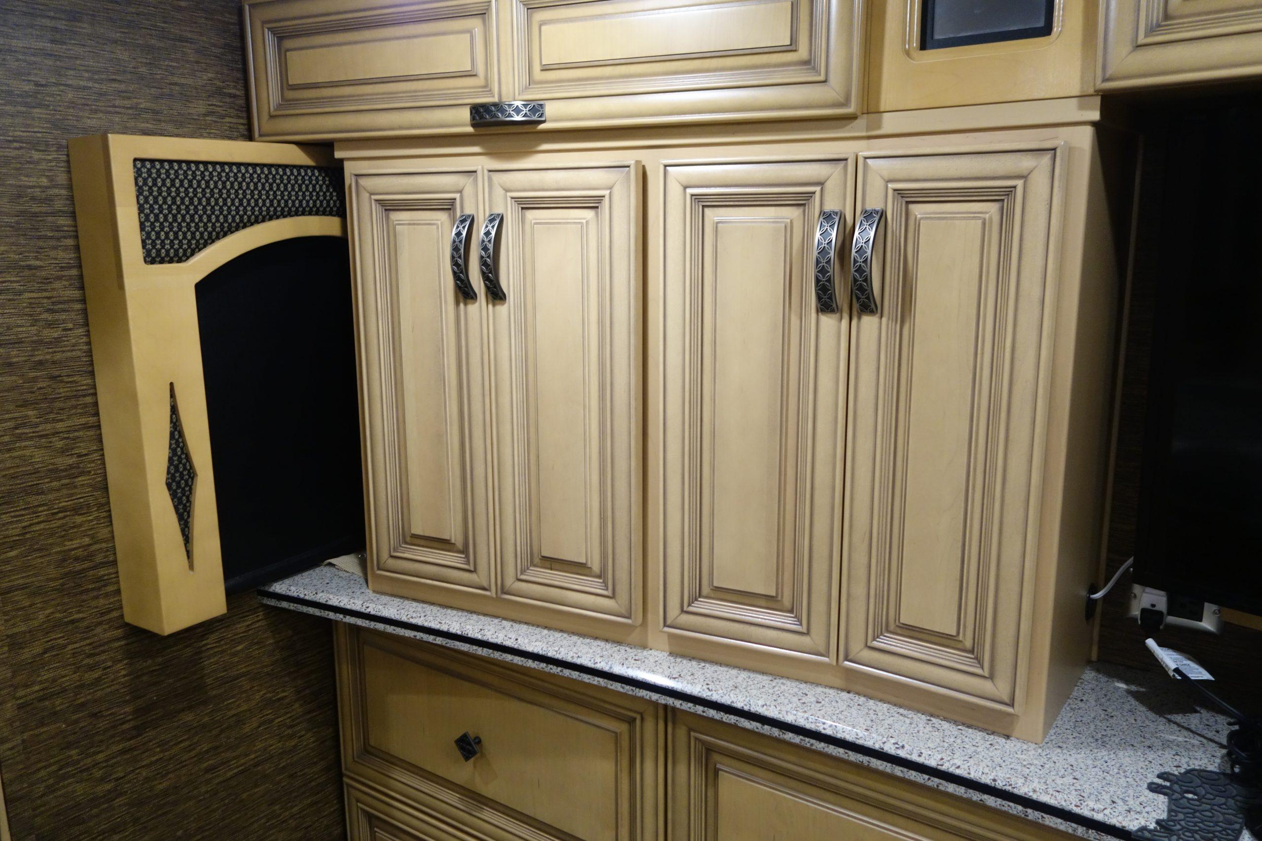 Custom RV kitchen cabinets