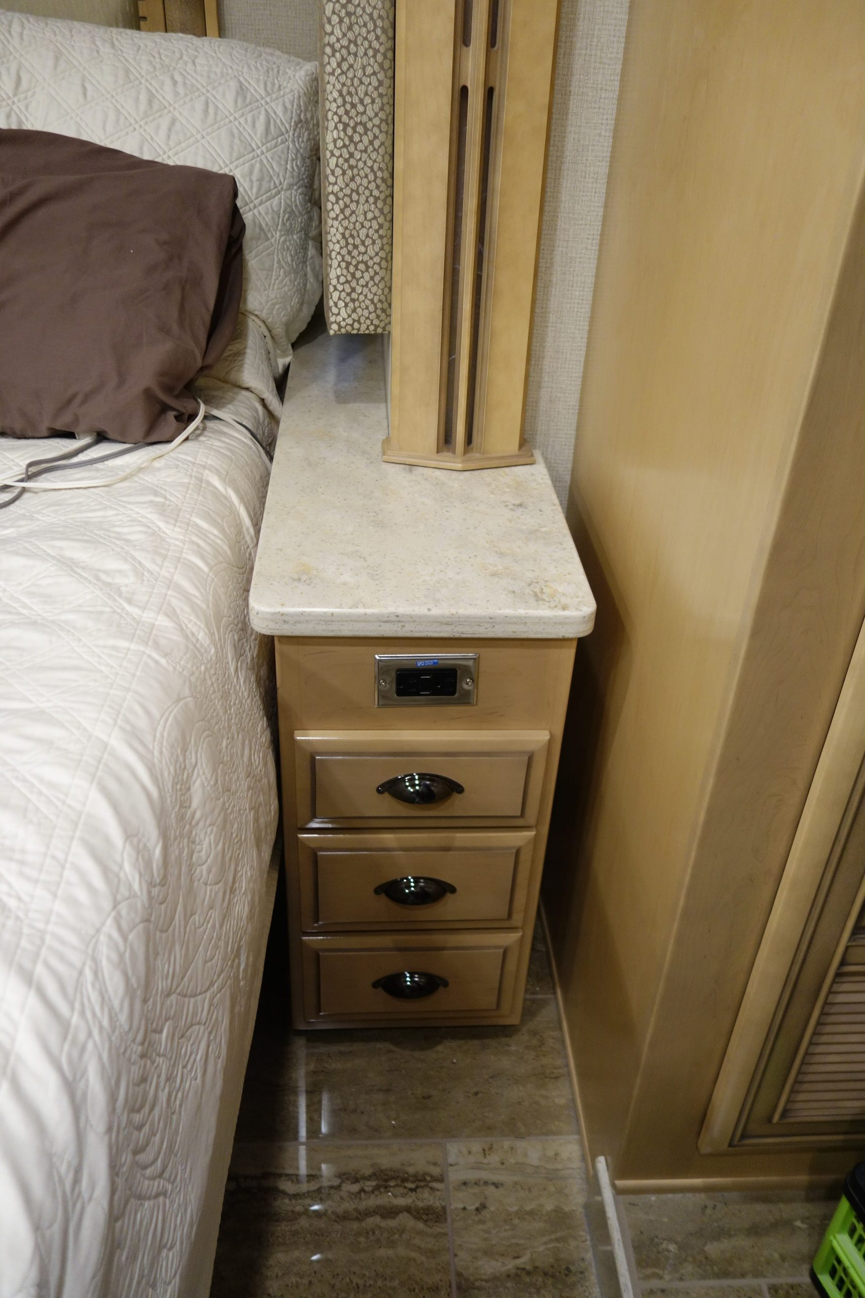 Custom bedside drawer set