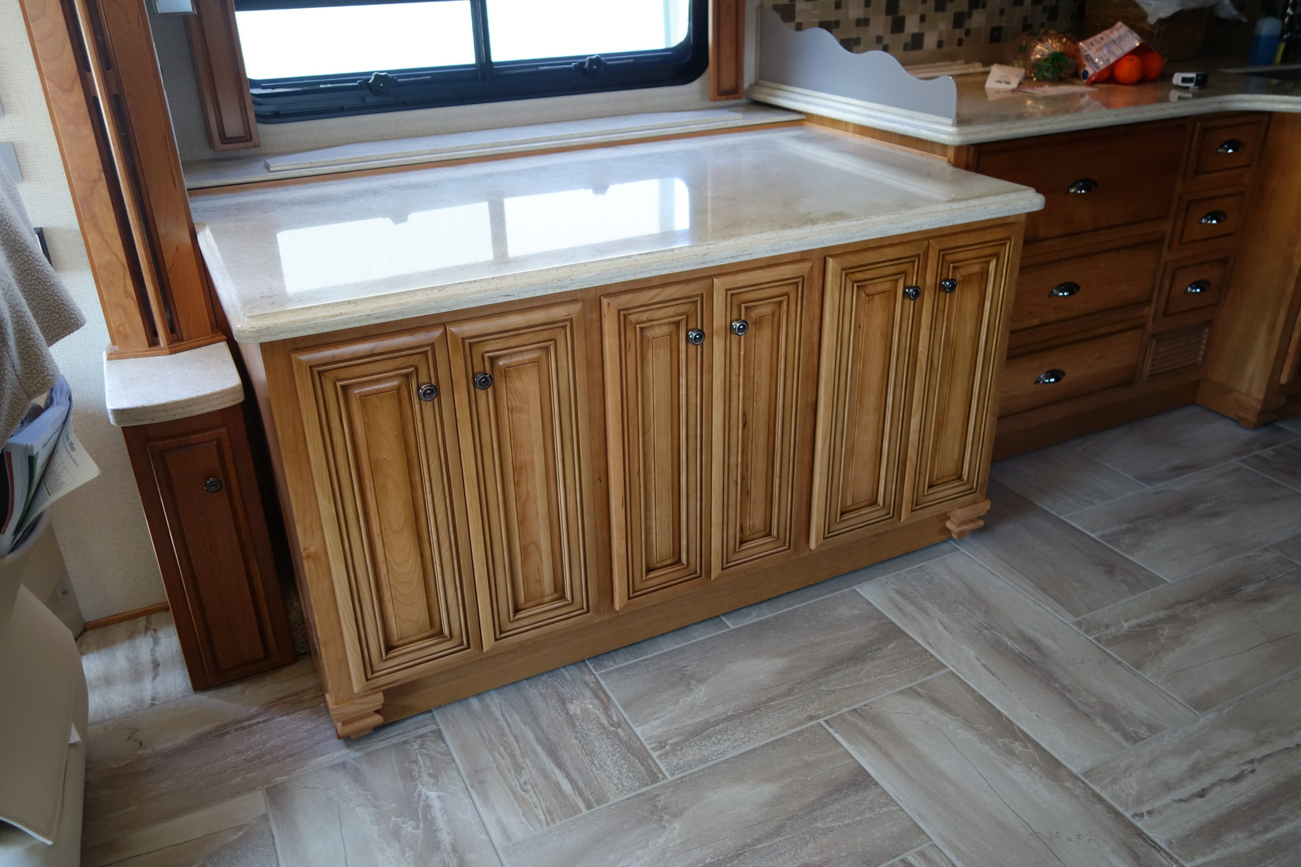 Custom cabinets with countertop