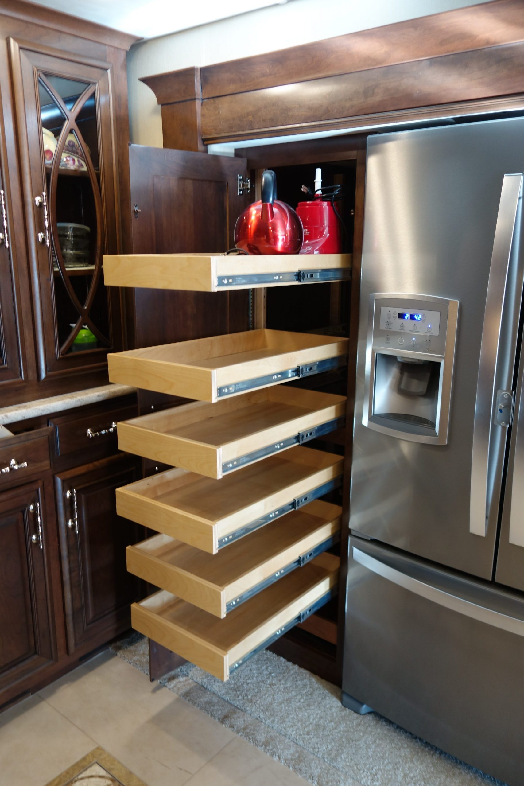 Custom Kitchen Slideout Cabinets